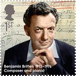 Benjamin Britten - Royal Mail stamp