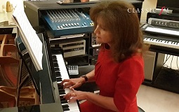 Composer Debbie Wiseman performs her piece, Together, at her home studio. Picture: Classic FM