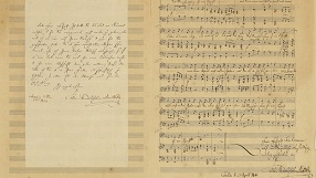 Manuscript of Felix Mendelssohn's Song
