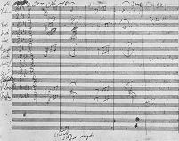 Original hand-written manuscript - Page 1 of Beethoven's 5th symphony