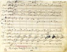 First page of Brahms' fourth symphony in E-minor