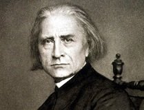 Franz Liszt, pictured in his soutane