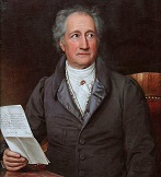 Johann Wolfgang von Goethe in the late 1820s, in a painting by Joseph Karl Stieler (who also did a well-known portrait of Beethoven)