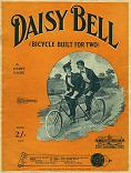 Daisy Bell by Harry Dacre - sheet music cover