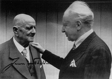 Jean Sibelius, being visited by Leopold Stokowski