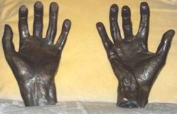 A cast of Franz Liszt's hands