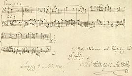 An inscribed 2-part canon by Felix Mendelssohn