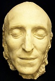 Felix Mendelssohn's death mask. There are no known photographic images of the composer