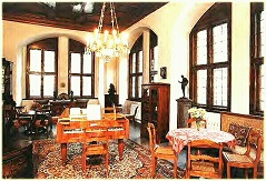 Mendelssohn's living room, recreated in Leipzig's Old City Hall with the home's original furnishings