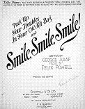 Pack Up Your Troubles in your Old Kit-Bag (and Smile, Smile, Smile!) by Felix Powell and George Asaf - sheet music cover