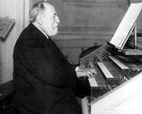 Saint-Saëns at the organ, for the 1906 Carnegie Hall performances of his third symphony