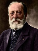 Colorized rendering of Saint-Saëns, ca.1895