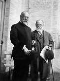 Saint-Saëns in 1915 with John Philip Sousa
