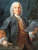 Domenico Scarlatti at 53, sometimes called The Father of Modern Keyboard Playing, in a portrait painted from life by Velasco in 1738