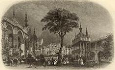 The Eagle Tavern Pleasure Gardens - print of a sketch
