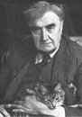 Ralph Vaughan-Williams ca. 1942 with his cat Foxy