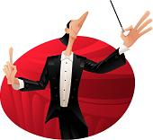 Cartoon Conductor with a Big Nose