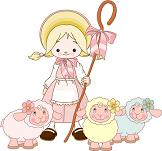 Little Bo-Peep with her sheep