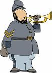 cartoon of a bugler