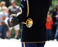 uniformed bugler