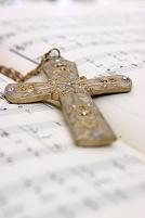 Christian Cross on Hymn Book
