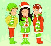 carol singers singing at christmas