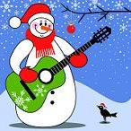 Christmas Snowman with Guitar