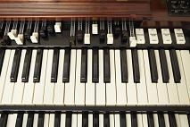 close-up of Hammond B3 Electric Organ