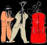 sketch of jazz musicians
