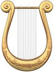 an ornate lyre
