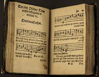 Early hymn book with Martin Luther hymn: Ein feste Burg ist unser Gott/A Mighty Fortress Is Our God