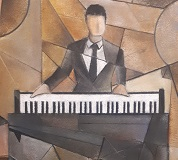 Pianist 0 - close-up of artwork by Martin Paterson