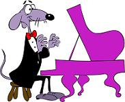 cartoon mouse pianist