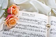 Wedding Sheet Music with roses