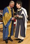 Prince Charles presents Lang Lang with honorary doctorate at the Royal College of Music