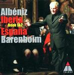 Albeniz: Iberia & Suite Espana, played by Daniel Barenboim (piano) - CD cover