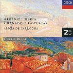 Albeniz: Iberia & Granados: Goyescas played by Alicia DeLarrocha (piano) - CD cover