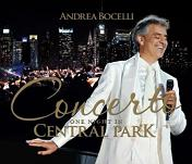 Andrea Bocelli: One Night in Central Park - album CD cover