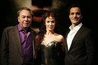 Andrew Lloyd Webber and the leads from Love Never Dies