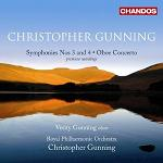 Christopher Gunning - Symphonies 3 and 4 plus Concerto for Oboe and String Orchestra album CD cover