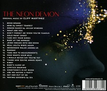 Cliff Martinez: The Neon Demon - album back cover