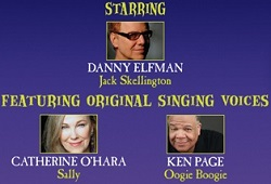 Danny Elfman: The Nightmare Before Christmas, Live in Concert - cast