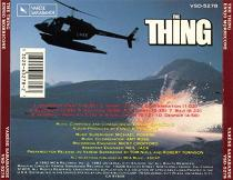 Ennio Morricone: The Thing - soundtrack CD back cover