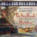 Erich Wolfgang Korngold: The Sea Hawk and Deception complete scores 2CD cover