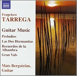 Francisco Tarrega: Guitar Music played by Mats Bergstrom - album cover