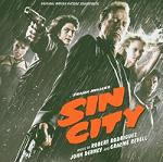 Graeme Revell, John Debney & Robert Rodriguez - Sin City soundtrack CD cover