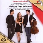 Johannes Brahms: Violin and Double Concertos - album CD cover