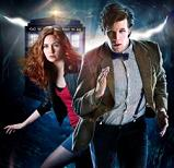Matt Smith & Karen Gillan in a BBC Doctor Who publicity image