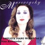 Modest Mussorgsky: Complete Piano Works, Volume 2 played by Nina Kavtaradze - CD album cover