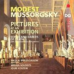 Modest Mussorgsky: Pictures at an Exhibition - CD album cover